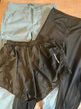Trousers, leggings and shorts