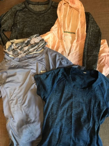 Long-sleeved and short-sleeved shirts (2 each) and essential Buff